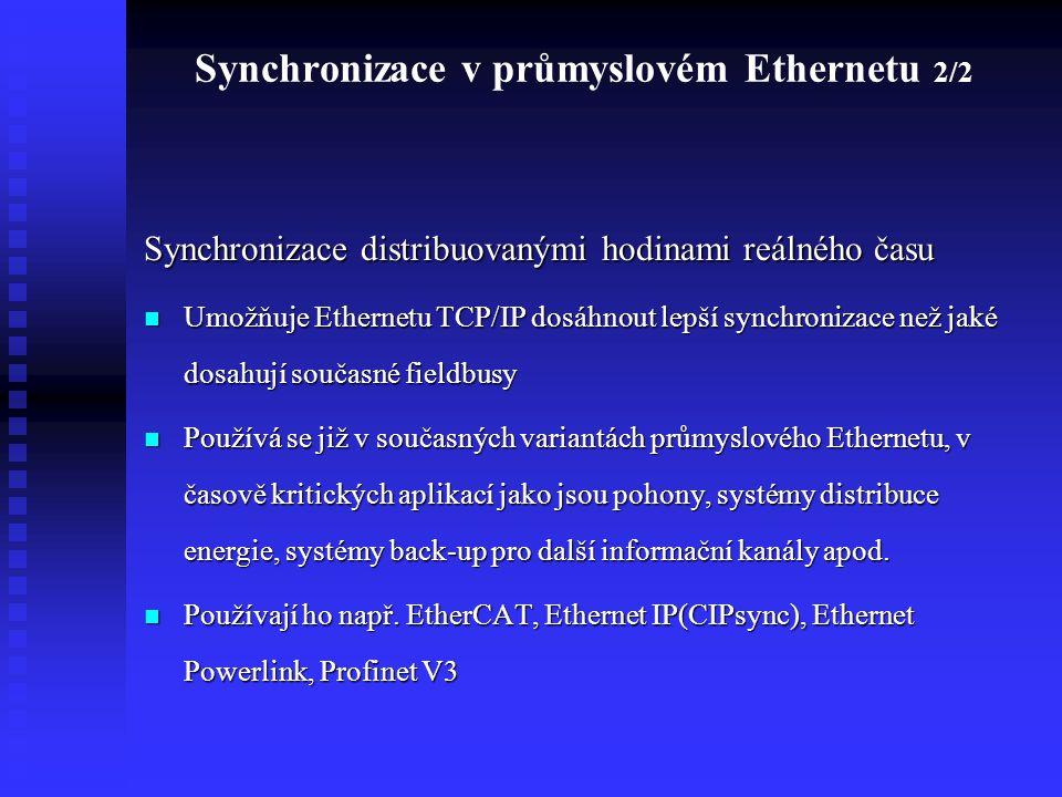 Synchronizace v průmyslovém Ethernetu 2/2