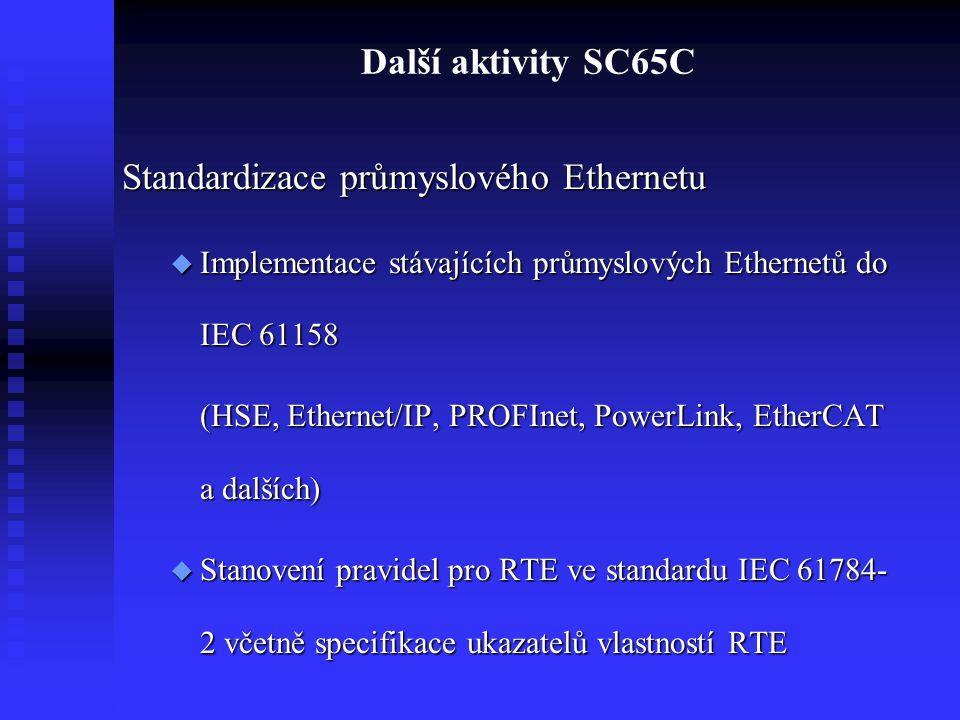 Standardizace průmyslového Ethernetu