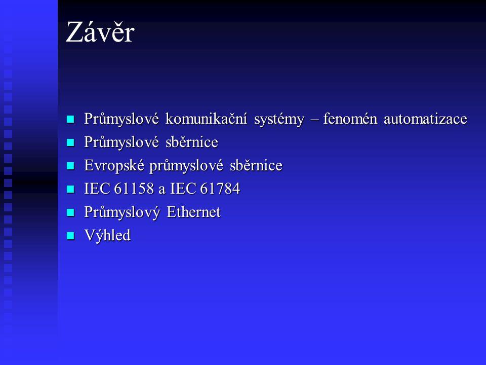 Závěr Průmyslové komunikační systémy – fenomén automatizace