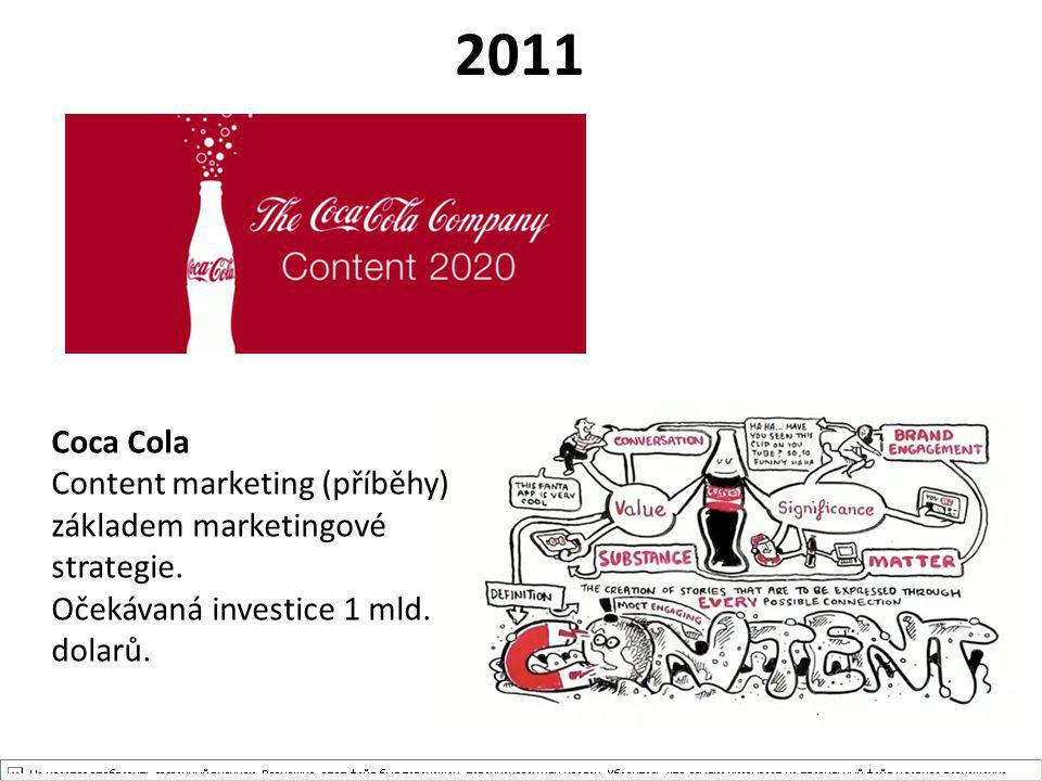 2011 Coca Cola. Content marketing (příběhy) základem marketingové strategie.