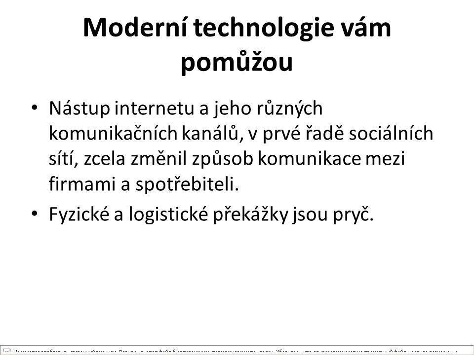 Moderní technologie vám pomůžou