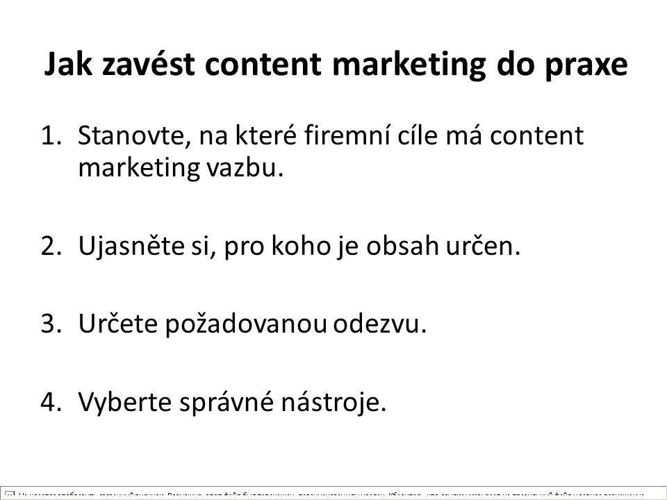 Jak zavést content marketing do praxe