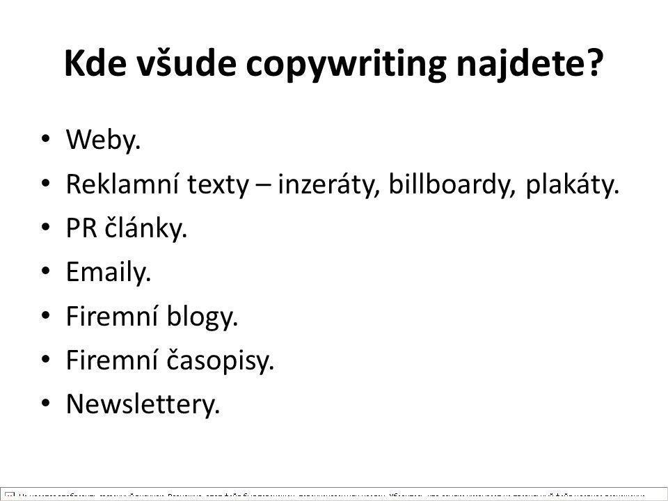 Kde všude copywriting najdete