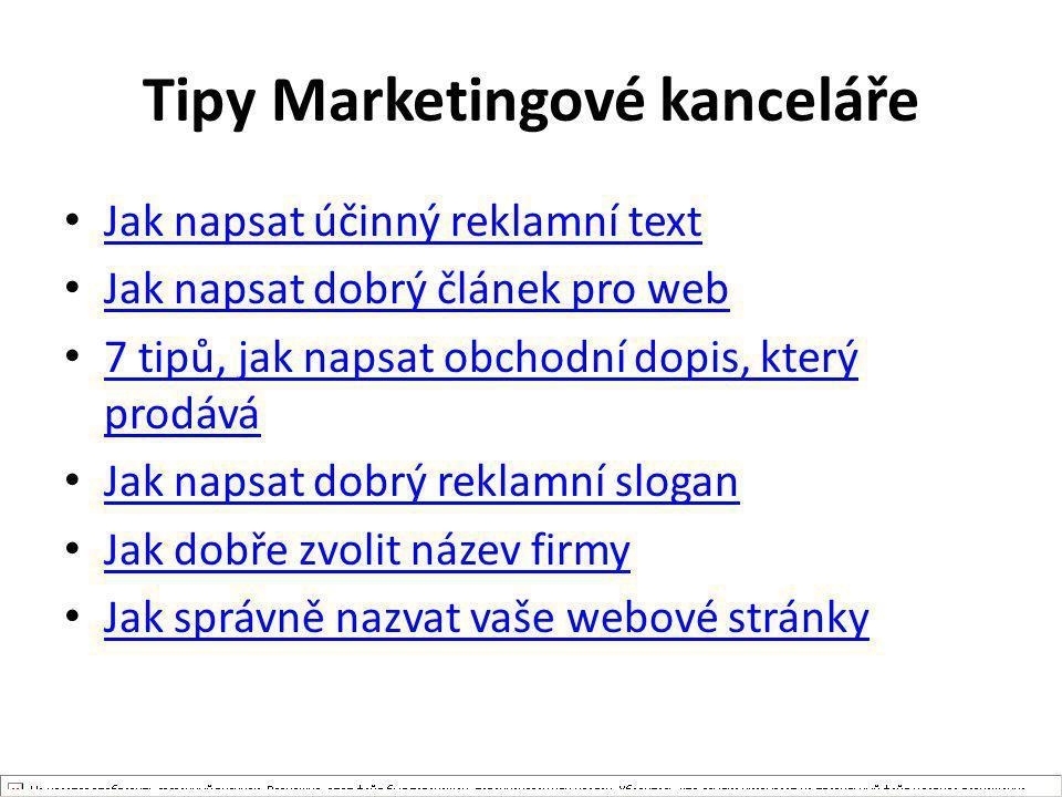 Tipy Marketingové kanceláře