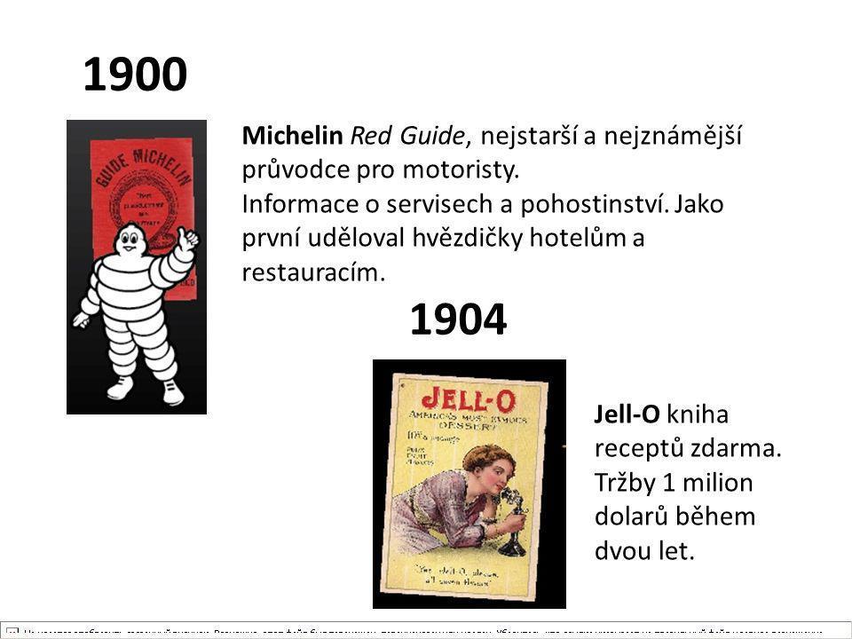 1900 Michelin Red Guide, nejstarší a nejznámější průvodce pro motoristy.