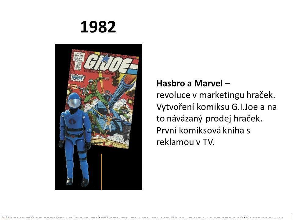 1982 Hasbro a Marvel – revoluce v marketingu hraček.
