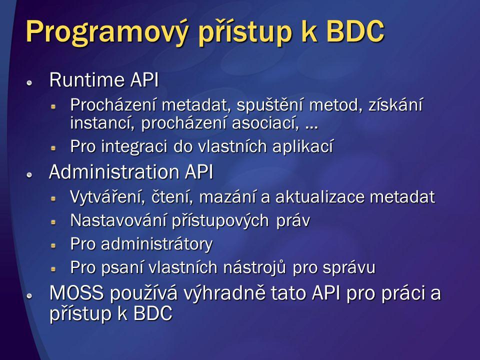 Programový přístup k BDC