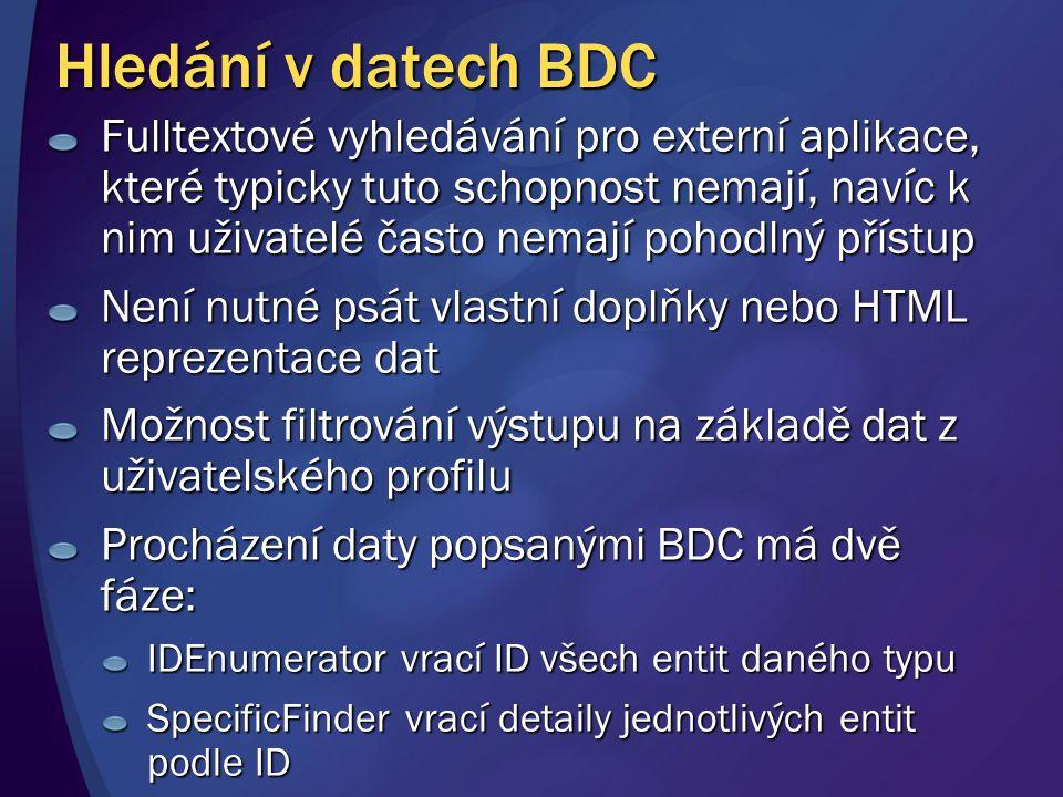 Hledání v datech BDC