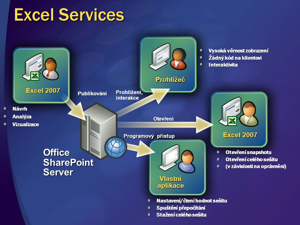 Excel Services Office SharePoint Server Prohlížeč Excel 2007