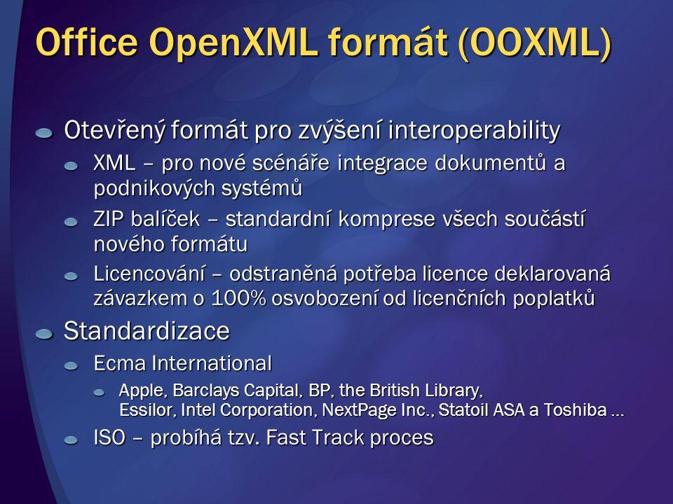 Office OpenXML formát (OOXML)