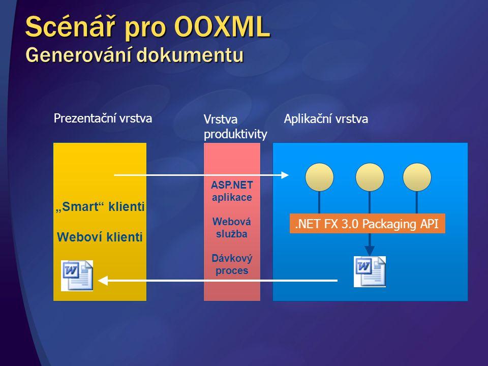 Scénář pro OOXML Generování dokumentu