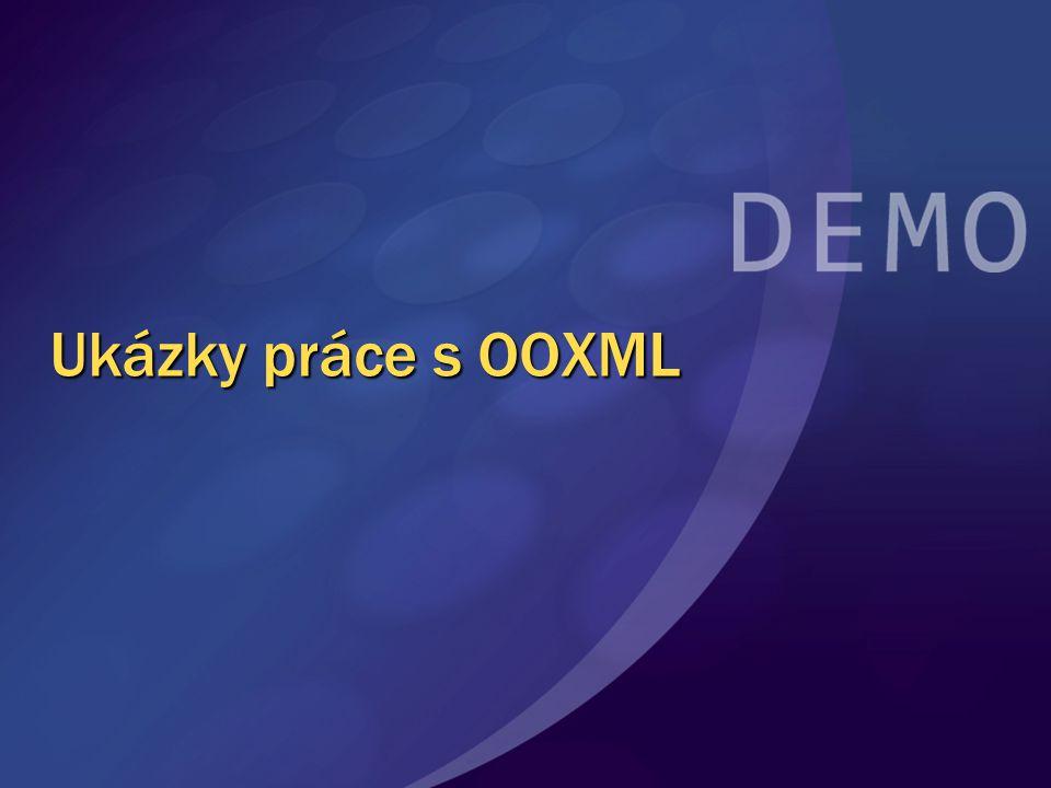 Ukázky práce s OOXML MGB 2003