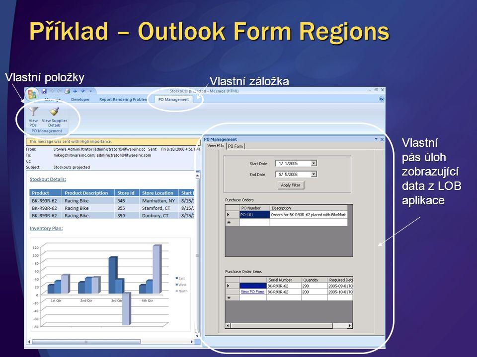 Příklad – Outlook Form Regions