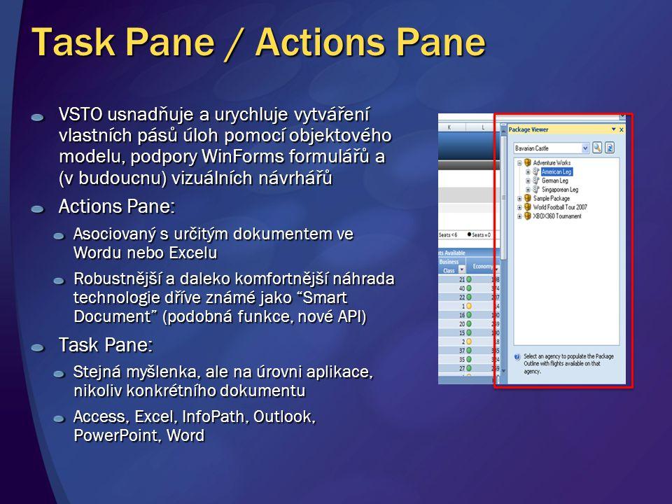 Task Pane / Actions Pane