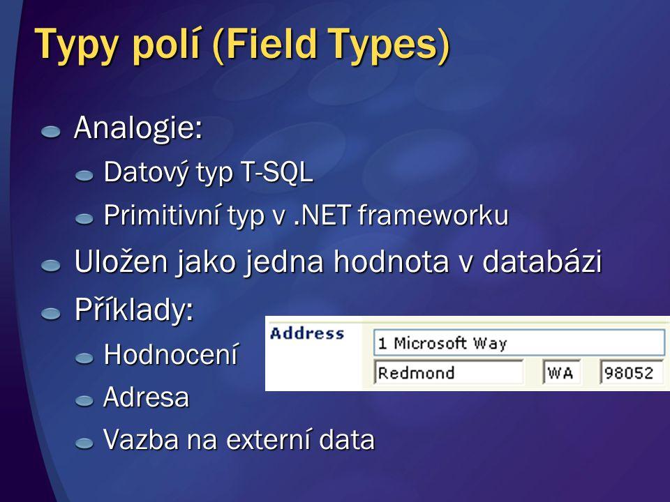 Typy polí (Field Types)