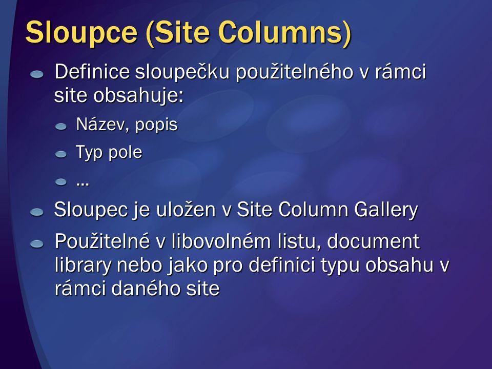 Sloupce (Site Columns)