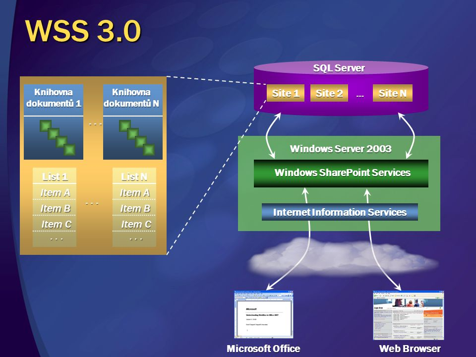 Windows SharePoint Services Internet Information Services