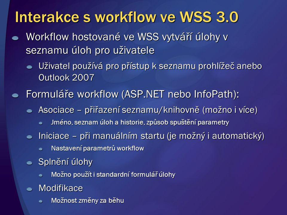 Interakce s workflow ve WSS 3.0