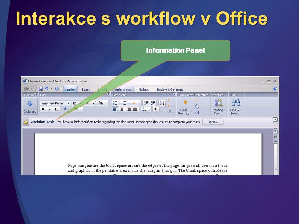 Interakce s workflow v Office