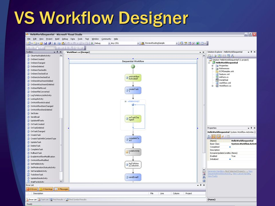 VS Workflow Designer