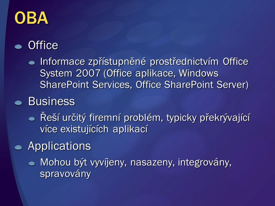 OBA Office Business Applications