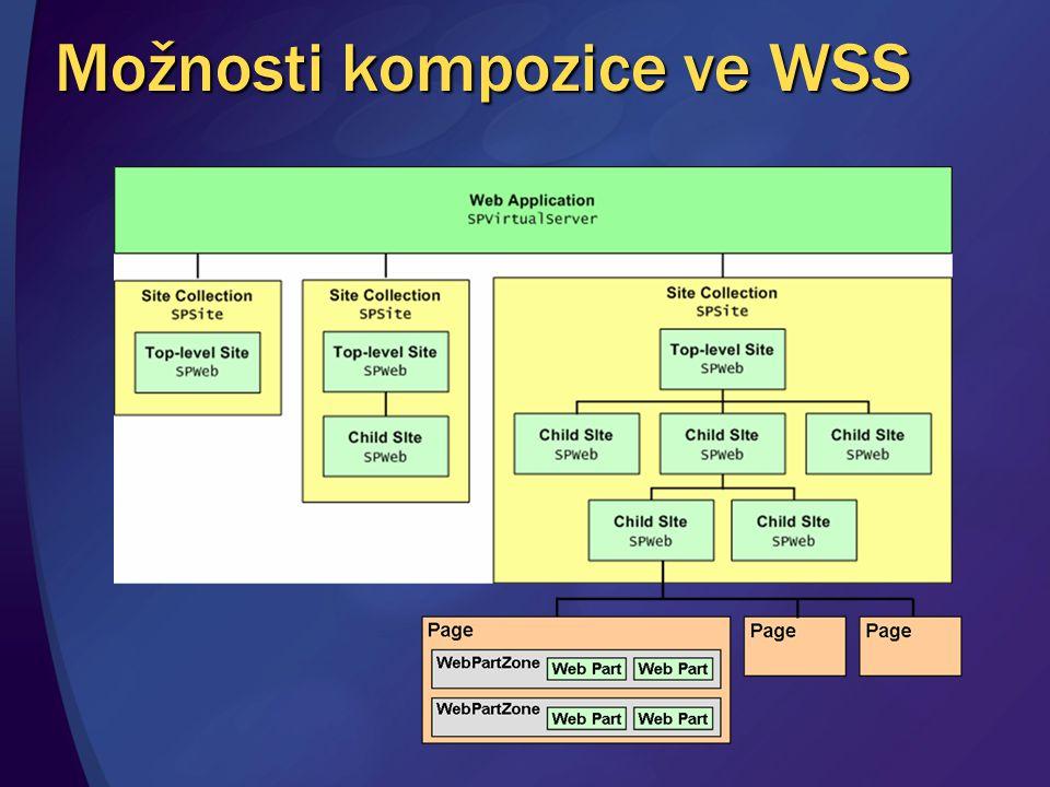 Možnosti kompozice ve WSS