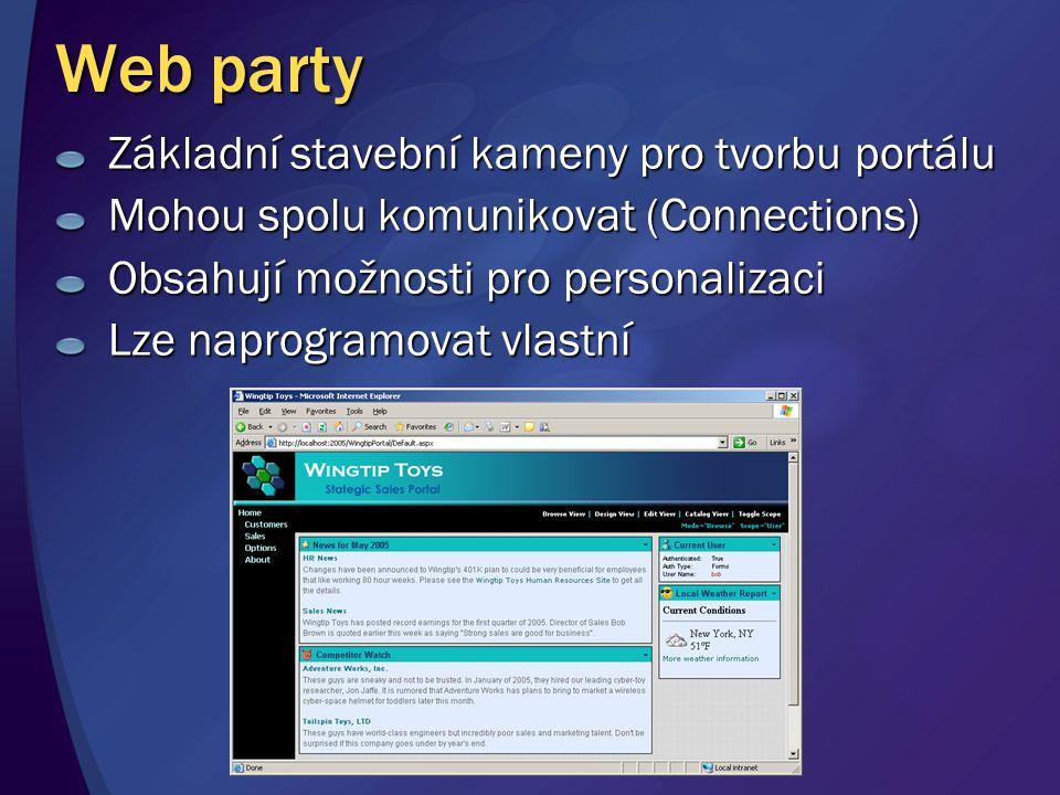 Web party Základní stavební kameny pro tvorbu portálu