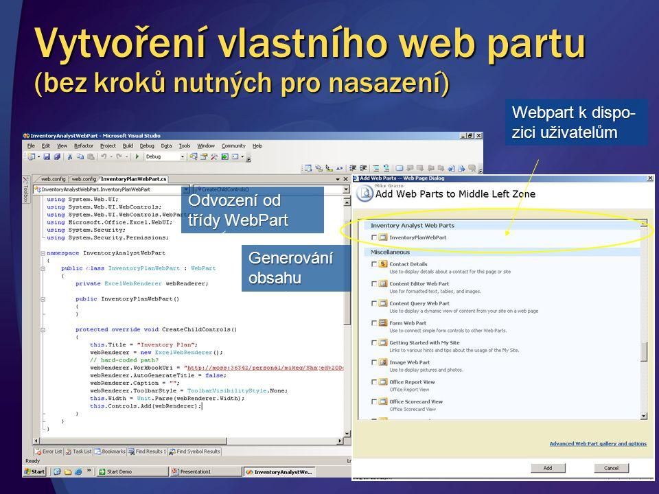 Vytvoření vlastního web partu