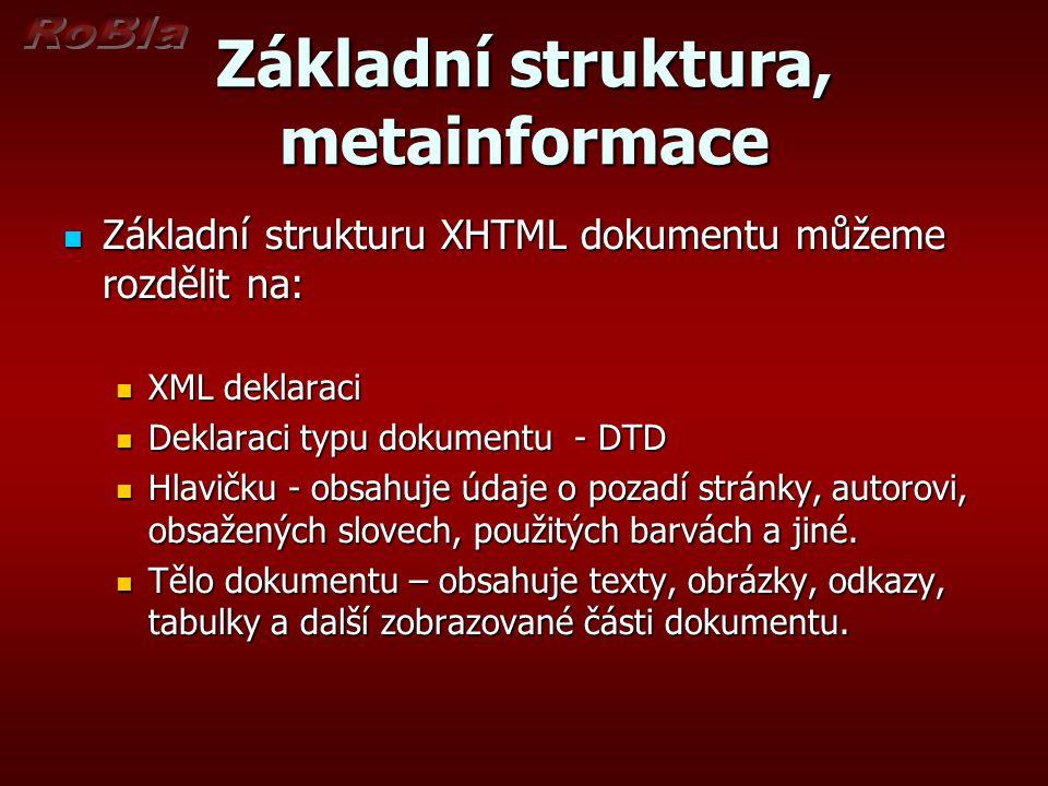 Základní struktura, metainformace