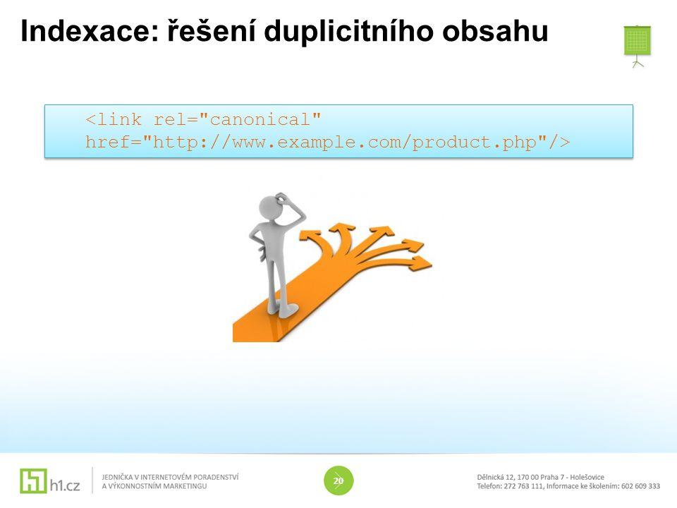 Indexace: řešení duplicitního obsahu