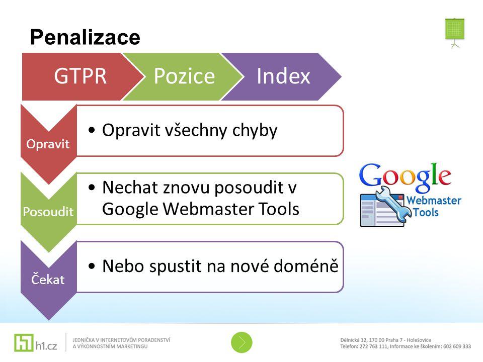 GTPR Pozice Index Penalizace Opravit Opravit všechny chyby Posoudit