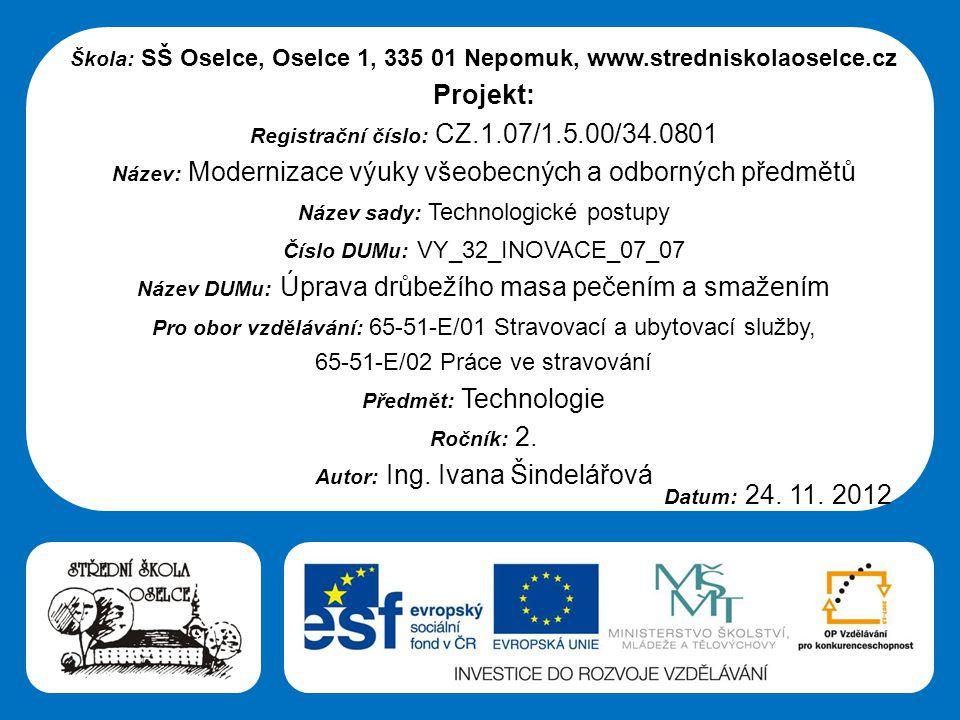 Projekt: 65-51-E/02 Práce ve stravování