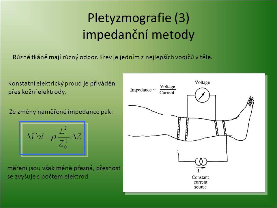 Pletyzmografie (3) impedanční metody