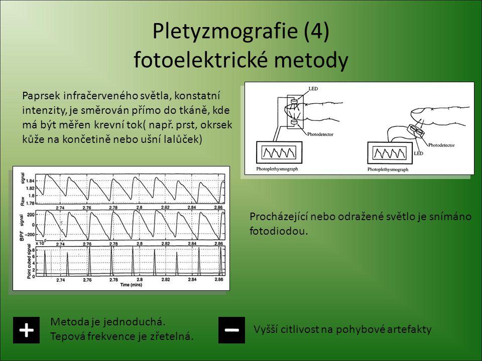 Pletyzmografie (4) fotoelektrické metody
