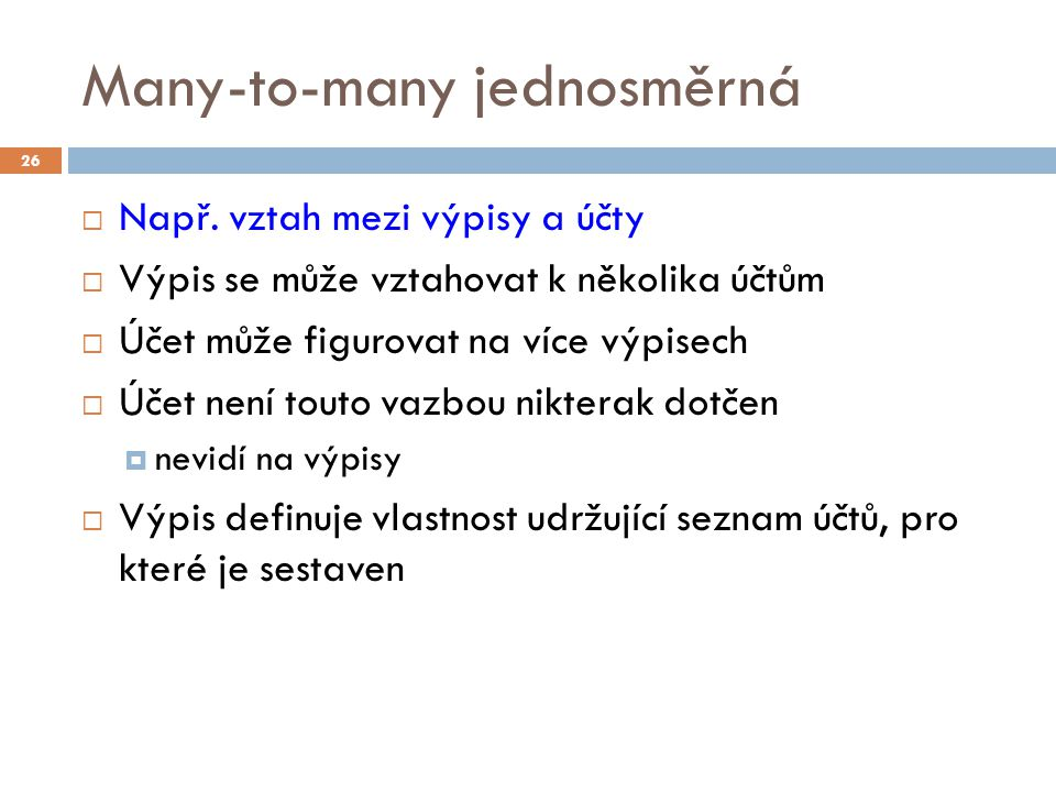 Many-to-many jednosměrná