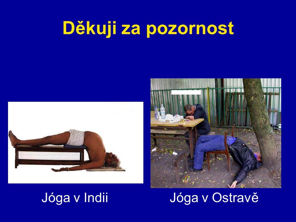 Děkuji za pozornost Jóga v Indii Jóga v Ostravě