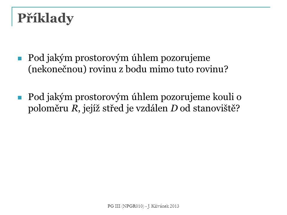 PG III (NPGR010) - J. Křivánek 2013