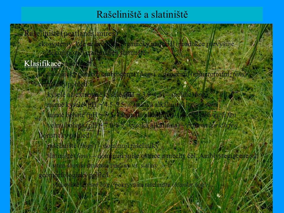 Rašeliniště a slatiniště