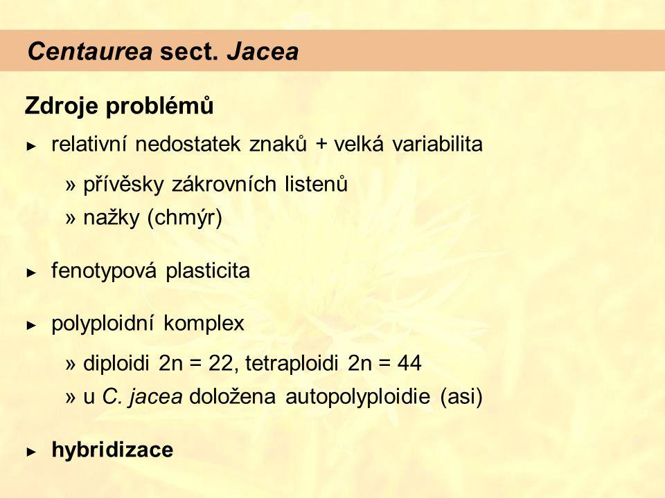 Centaurea sect. Jacea Zdroje problémů