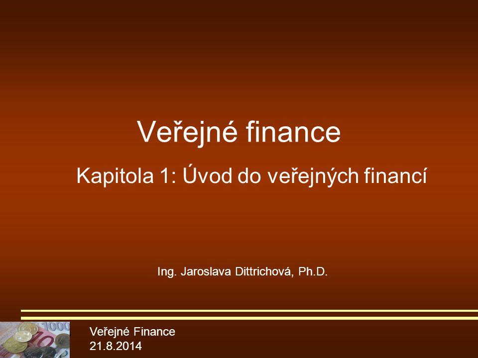 Kapitola 1: Úvod do veřejných financí