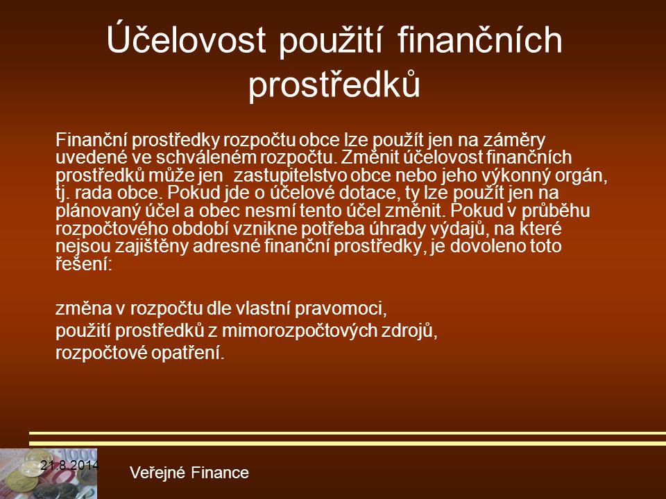 Účelovost použití finančních prostředků