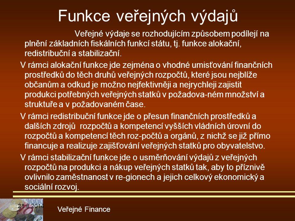Funkce veřejných výdajů