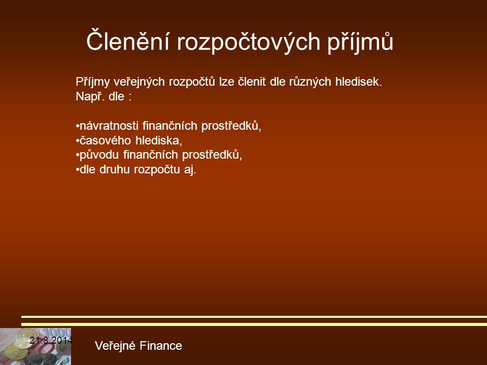 Členění rozpočtových příjmů