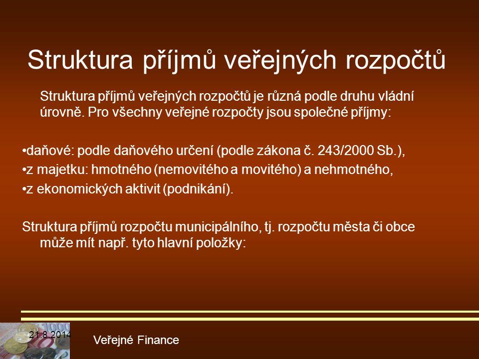 Struktura příjmů veřejných rozpočtů
