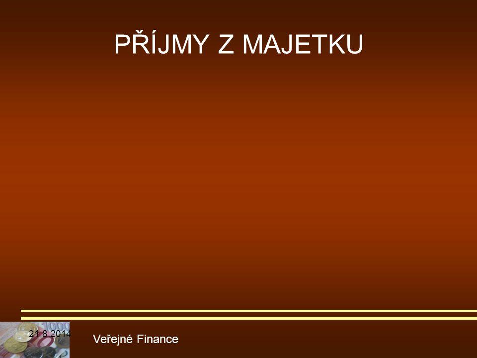 PŘÍJMY Z MAJETKU 5.4.2017 Veřejné Finance