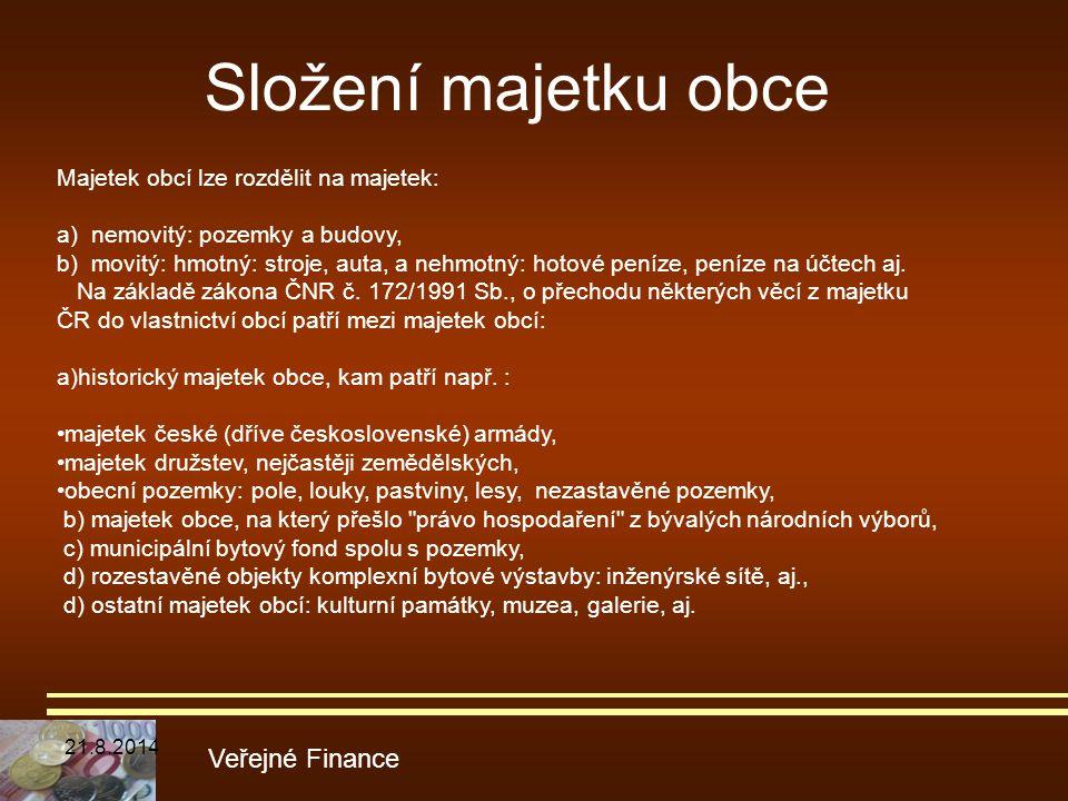Složení majetku obce Veřejné Finance