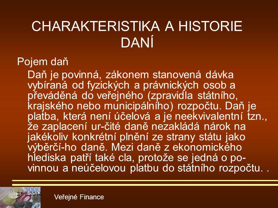 CHARAKTERISTIKA A HISTORIE DANÍ
