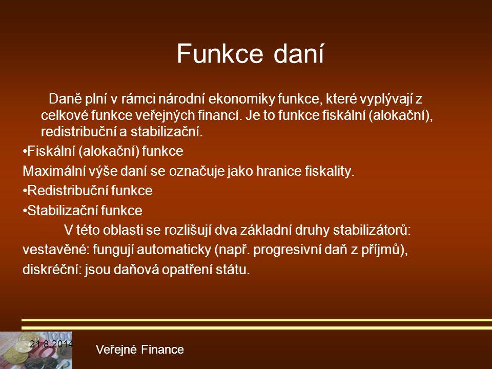 Funkce daní