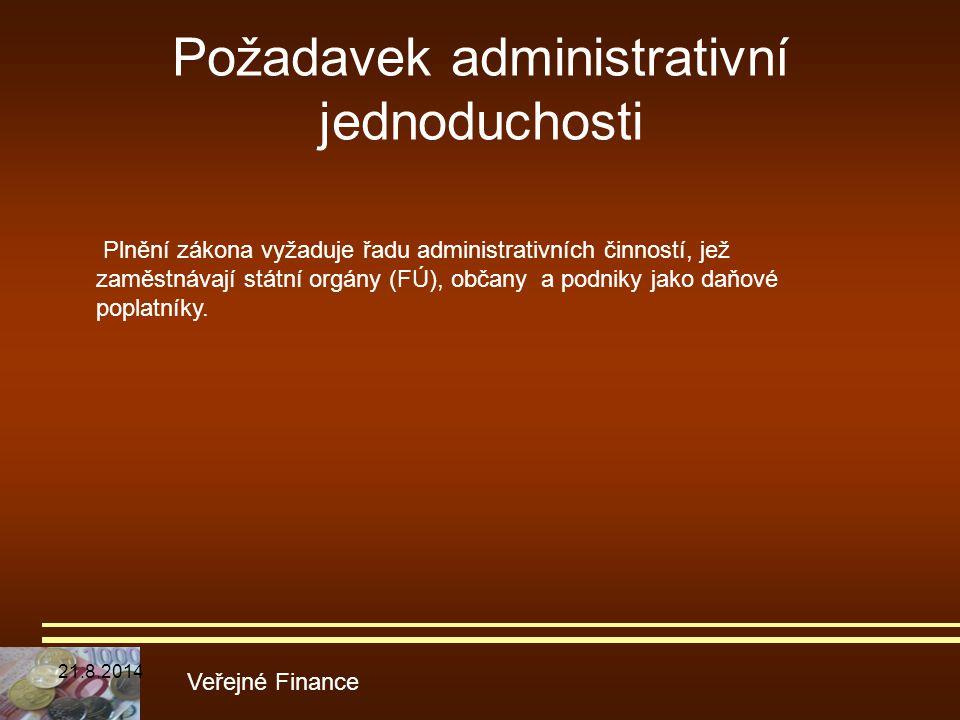 Požadavek administrativní jednoduchosti
