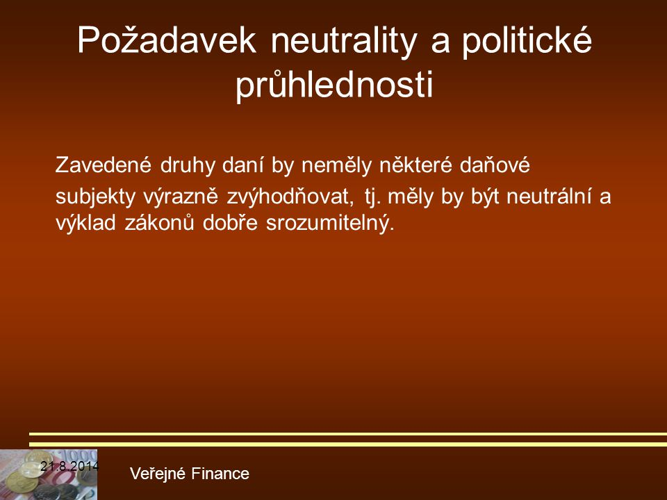 Požadavek neutrality a politické průhlednosti